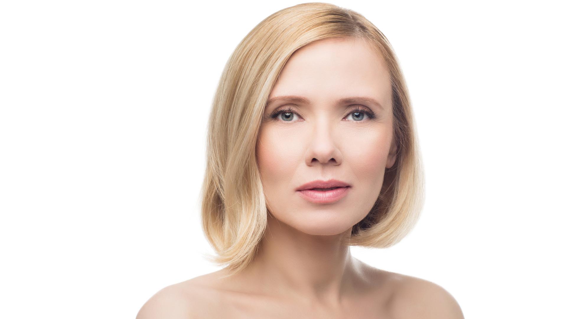 Porträt blonde Frau