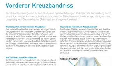 Patienteninformation Kreuzband